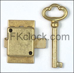 New Lock and Key for Grandfather Clock Door; Style #3